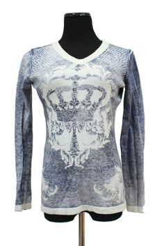 CAbi  706 Reversible Crown Sweater Cashmere Size M