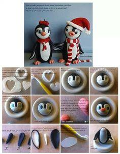 How to make fondant penguins