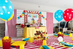 Festa Aniversário | Circo birthday decoration // party decorations ideas // circus Decoration Party, Decorations, Birthday, Fun, Themed Parties, Ideas, Birthdays, Dekoration, Deko