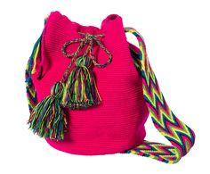 Bolso artesanal en fibra de crochet Mahasin - multicolor