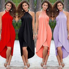 Summer Womens Boho Long Maxi Dress Evening Cocktail Party Beach Dress Sundress