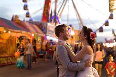 Couture Funfair - Carnival  wedding. Rainbow - Rockabilly Wedding. Unique Wedding