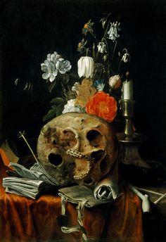 Nicolaes van Verendael-skull-vanitas