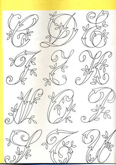 Tambour Embroidery, Embroidery Alphabet, Hand Embroidery Videos, Embroidery Monogram, Cross Stitch Alphabet, Hand Embroidery Designs, Embroidery Applique, Embroidery Stitches, Fancy Writing