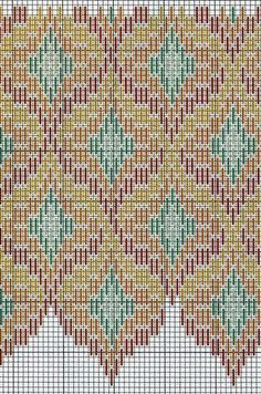 Florentine Bargello Embroidery: 25 Patterns for Different Difficulty Levels – Livemaster Broderie Bargello, Bargello Needlepoint, Bargello Quilts, Needlepoint Stitches, Needlework, Bargello Patterns, Quilt Patterns Free, Mosaic Patterns, Canvas Patterns