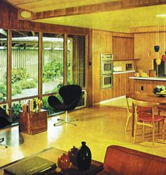Charming Mid-Century Kitchen Designs That Will Take You Back To The Vintage Era Mid Century Art, Mid Century Decor, Mid Century House, Mid Century Design, 70s Home Decor, 1970s Decor, Vintage Decor, Vintage Interiors, Modern Interiors