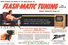 Zenith Flash-Matic Remote Control TV from 1956.