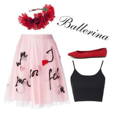 Ballerina by musiclover4701 on Polyvore featuring polyvore, fashion, style, Topshop, P.A.R.O.S.H., Breckelle's, Rock 'N Rose, women's clothing, women's fashion, women, female, woman, misses and juniors