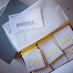 Emmadime letter pressed business cards want!!