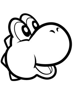 Green Yoshi For Toddlers Coloring Page Super Mario Pages Kids