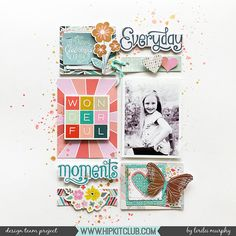 Hello Hip Kit Friends!! Lorilei here! I have a grid design layout using only the September Hip Kit Main Kit!The Main Kit is packed full of gorgeous products so this layout came together easily! O…