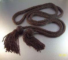 Vintage Flapper Sautoir Tassel Necklace Art by LynnHislopJewels