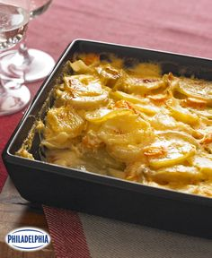 Cheesy Scalloped Potatoes & Carrots #recipe