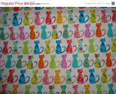 ON SALE Calico Cats Fabric by Michael Miller 1 by sewcraftscorner, $7.57