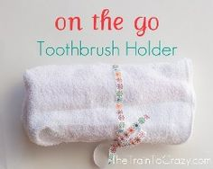 Tutorial: On the Go Toothbrush Holder | Sewing | CraftGossip.com