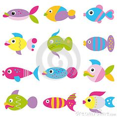 Funky fish collection pattern by Jelenazz, via Dreamstime