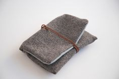 Tobacco case tobacco pouch rolling tobacco bag in grey by Marinsss
