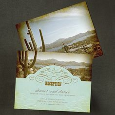Cowboy Country Reception Card weddingneeds.carlsoncraft.com