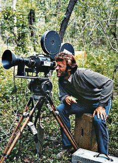 clint eastwood en tournage derrière la caméra - 1971