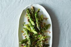 Asparagus: Did you know you can pair it with Sherry?  Another award winner from Food52: Pancetta, garlic, leek, lemon & orange zest & pine nuts is excellent with Valdespino Fino Sherry Inocente.