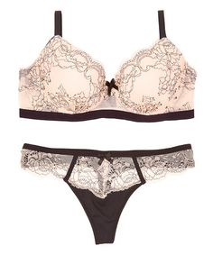Look at this #zulilyfind! Rose Zelda Demi Bra & Thong #zulilyfinds
