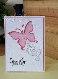 butterfly negative card by Christina Griffiths