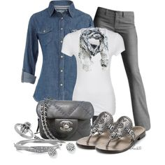 """Denim Shirt"" by christa72 on Polyvore"