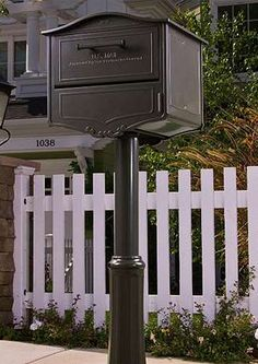 The Swiss-inspired Geneva Mailbox is a safe, convenient and handsome upgrade to your curb appeal.