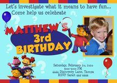 Super Why Sid The Science Kid Birthday Invitations | eBay
