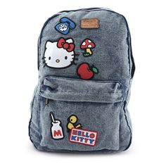 6d7f4c6c0b Loungefly x Hello Kitty Denim Icon Patch Backpack - Backpacks - Bags