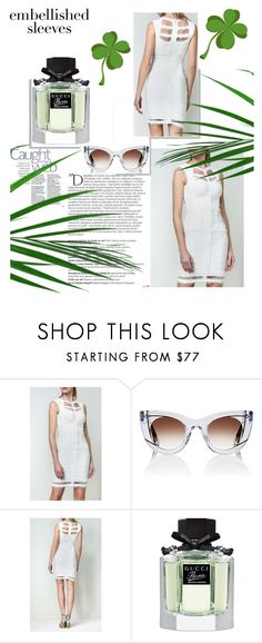 Legerbabe Madyson Chiffon Detail Dress by legerbabedress on Polyvore featuring Thierry Lasry, Gucci and Balmain