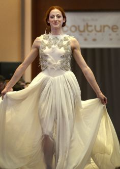 """Ballet West dancers walked the catwalk during the sixth annual """"Couture in Motion"""" fashion benefit, Friday, May 9, 2014. (Leah Hogsten  