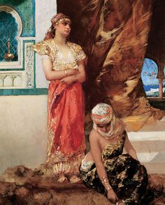 Jean-Joseph Benjamin-Constant, Afternoon in the Harem, 1880, oil on wood. 55 x 36.8 cm. Collection Kenneth Jay Lane. Photo Richard. P. Goodbody