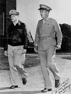 Portrait of General McArthur and Lieutenant General Eichelberger, Rockhampton, 1943 by State Library of Queensland, Australia, via Flickr