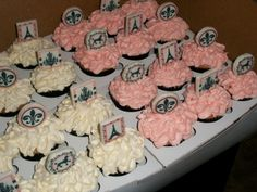 Cupcakes for Paris themed baby shower By Mookie122 on CakeCentral.com