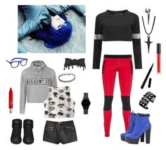 """""""Comic Clothing"""" by adrienne-miller96 ❤ liked on Polyvore featuring Ally Fashion, Chicnova Fashion, Norma Kamali, Yves Saint Laurent, Ultracor, MANGO, RetroSuperFuture, AX Paris, PurMinerals and Stila"""