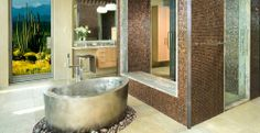"Stainless Steel Elliptical Soaking Bath 40"" x 72""x 24"""