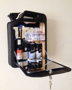 Jerrycan minibar Gas can drinks cabinet mobile cocktail bar wine beer spirits