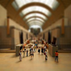 tilt shift - I think this is Musee D' Orsay