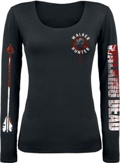 "The Walking Dead Long-sleeved Shirt, Women ""DD Crossbow"" black • EMP"