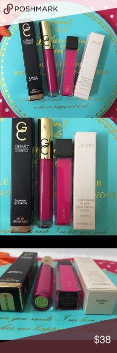 "💕💯Gerard & Jouer lipgloss bundle x2 brand new💕 Authentic Gerard cosmetics lipcreme Electric rose & Jouer lipgloss "" Birchbox pink "" Both brand new with boxes ! Summertime fushia colors ! Bundle and save ! gerard cosmetics  Makeup Lip Balm & Gloss"