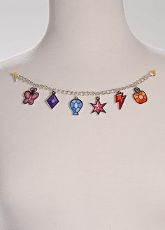 LIMITED EDITION My Little Pony Elements of Harmony Acrylic Charm Bracelet