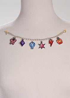 LIMITED EDITION My Little Pony Elements of Harmony Acrylic Charm Bracelet on Etsy, $30.00