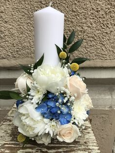 Baptism flowers #buchetecolorate Special People, Flower Arrangements, Table Decorations, Green, Flowers, Home Decor, Floral Arrangements, Decoration Home, Room Decor
