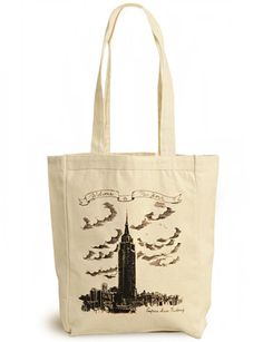 Charles Lahti Canvas Tote, Empire State Building- Kate's Paperie