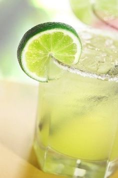 Margarita on the rocks made with frozen limeade, corona beer, sprite ...