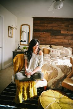 """Come see how this master bedroom went from """"blah"""" to fabulous on a budget!"""
