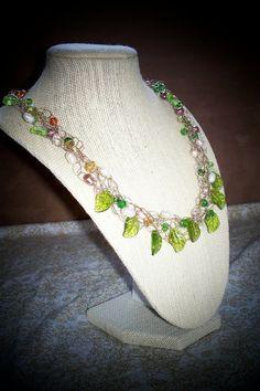 crochet wire w/ leaf beads