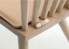 Truco para mantener el cojin de la silla en su sitio. De Alma Aguilar
