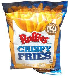 REVIEW: Ruffles Cheese Crispy Fries...meh. Good if ya like the hard crunchy fries at the bottom of the package. I don't.